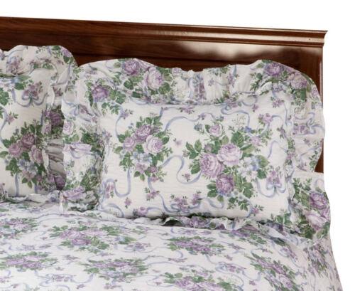 Ribbons and Roses Plisse Sham, Lavender