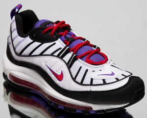 Details about Nike Air Max 98 Mens White Casual Lifestyle Sneakers 640744 110