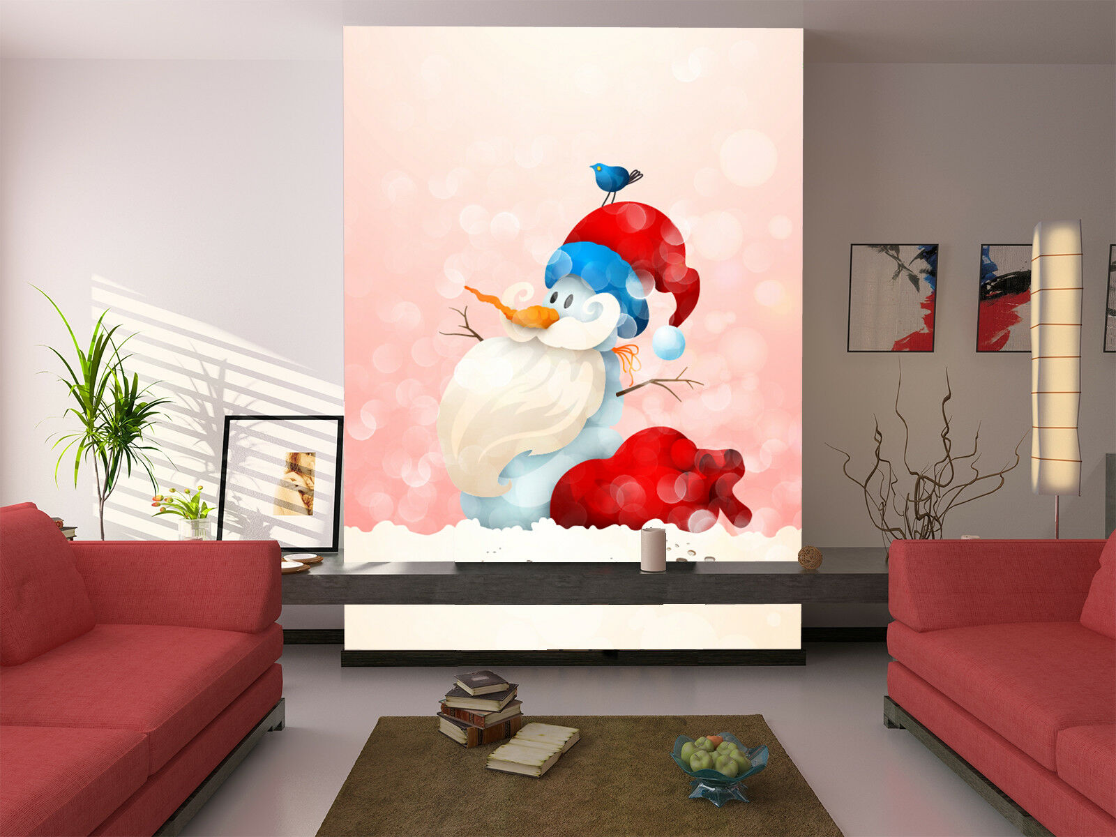3D Weiß Bearded Snowman 74 Wallpaper Mural Paper Wall Print Wallpaper Murals