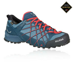Details about Salewa Mens Wildfire GORE TEX Walking Shoes Trekking Sneakers Trainers Blue Navy