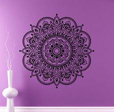 Mandala Wall Vinyl Decal India Henna Flower Vinyl Sticker Abstract Home Decor 4