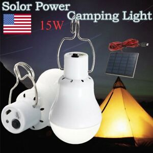 15W-Portable-Solar-Powered-LED-Rechargeable-Bulb-Light-Camping-Yard-Lamp-Outdoor
