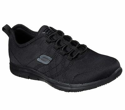 Skechers Work Black Wide Width Shoes