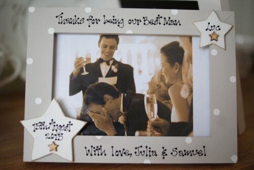 6x4/'/' Personalised Photo Frame by Filly Folly Best Man Gift