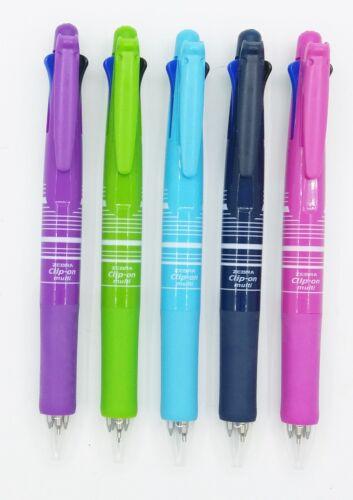 0.7mm 4+1 roller ball pen Zebra clip-on multi 5 PEN SET stripe I