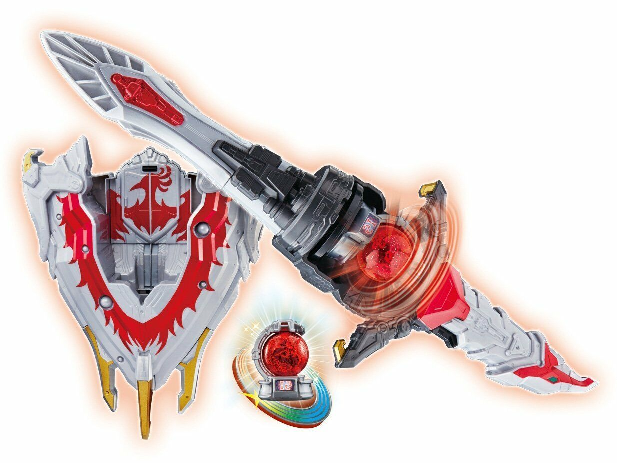 Bandai Kyuranger DX Ho-oh Blade & Hooh Shield with Houou Kyutama Japan NEW F/S