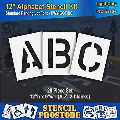 FREE SHIPPING 1 of 4 Sizes Signage Painting Mylar CURBSIDE Pavement Stencil