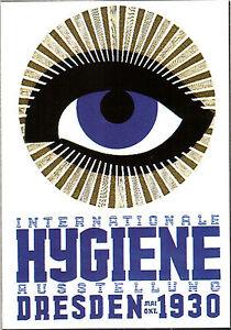 CARTOLINA-D-039-EPOCA-INTERNATIONALE-HYGIENE-AUSSTELLUNG-DRESDEN-1930-RIPROD