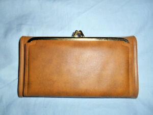 nos 1970 s lady mcgregor aristocrat tan wallet check register ebay