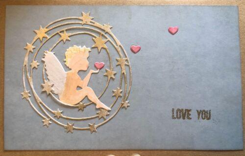 Brand New Angel Fairy Cherub Love Heart Wedding Funeral Metal Die Cutter