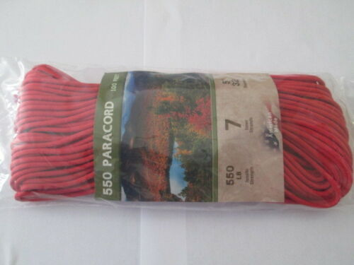 """550 PARACORD 5//32/"""" X 100/' MIL SPEC TYPE lll 7STRAND PARACHUTE  CORD MADE IN USA"""