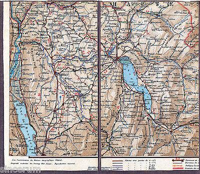 Ausdrucksvoll Annecy Aix-les-bains Thorens 1912 Teilkarte/ln. Seyssel Thônes Faverges Rumilly