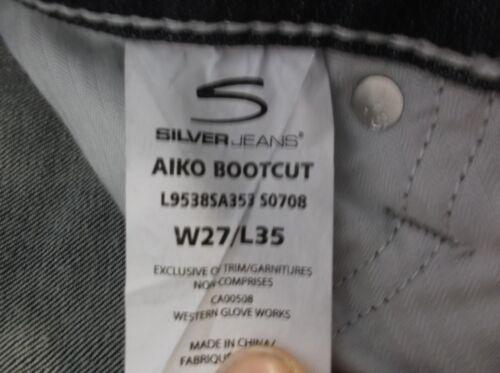 Foncé Aiko X Bleu Argent 30 Véritable Bootcut Denim Pantalon Femmes Jeans 34 Authentique fxYqHHO