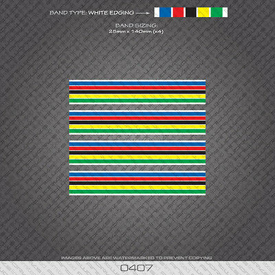 Bicycle Decals Stickers White Edges 01346 World Champion Stripes Bands