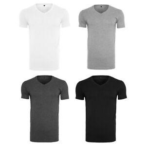 Herren-T-Shirt-V-Ausschnitt-lang-geschnitten-BY006-Build-Your-Brand-NEU