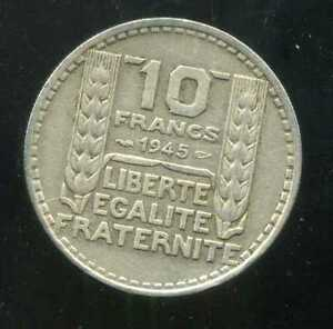 10 Francs Turin 1945 Grosse Tete Rameaux Court ( Rare ) Qfulaj1a-07215708-599368672