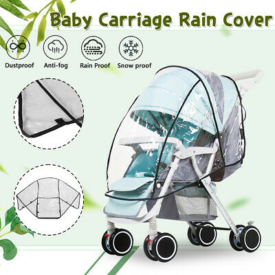 Snow Rain Cover Raincover for Universal Baby Stroller Clear RainCover Pushchair