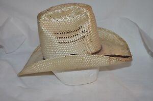 BAILEY U ROLL IT straw SIZE 7 boho WESTERN RODEO Cowboy HAT free US ... dfe553e173d