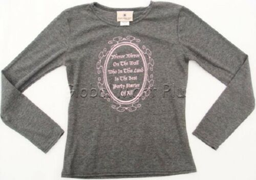 T-Shirt Top Tee Graphic Print Ribbed Long Sleeve Crew Neck Youth Girls Cleo Dot