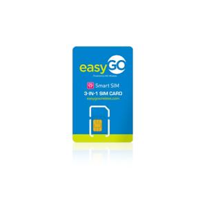 Easy GO Smart 4g LTE SIM Card Unactivate Triple Cut 3in1 ...