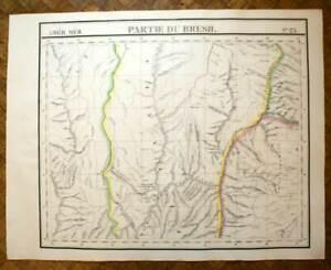 FidèLe Partie De L'amazone Bresil Carte Géographique D'amérique N°23 Vandermaelen 1827 Limpide à Vue