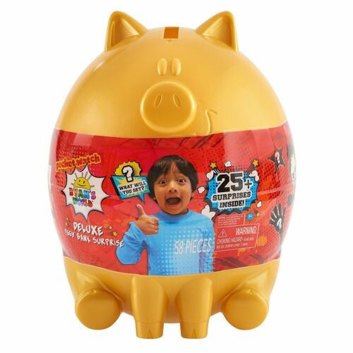 Surprises Holiday Unboxing Fun Ryan/'s World Deluxe Piggy Bank Egg Surprise 25