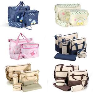 e573dcba33e66 Image is loading Baby-Nappy-Diaper-Changing-Bag-Handbag-Bottle-Holder-