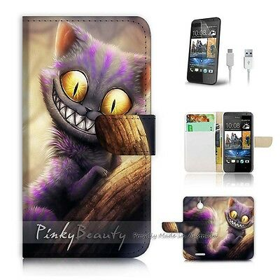 ( For HTC Desire 510 ) Case Cover! P0327 Cheshire Cat