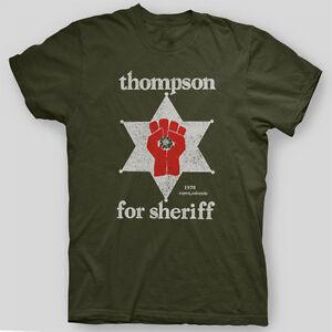 HUNTER-S-THOMPSON-SHERIFF-Fear-Loathing-GONZO-T-Shirt-SIZES-S-5X