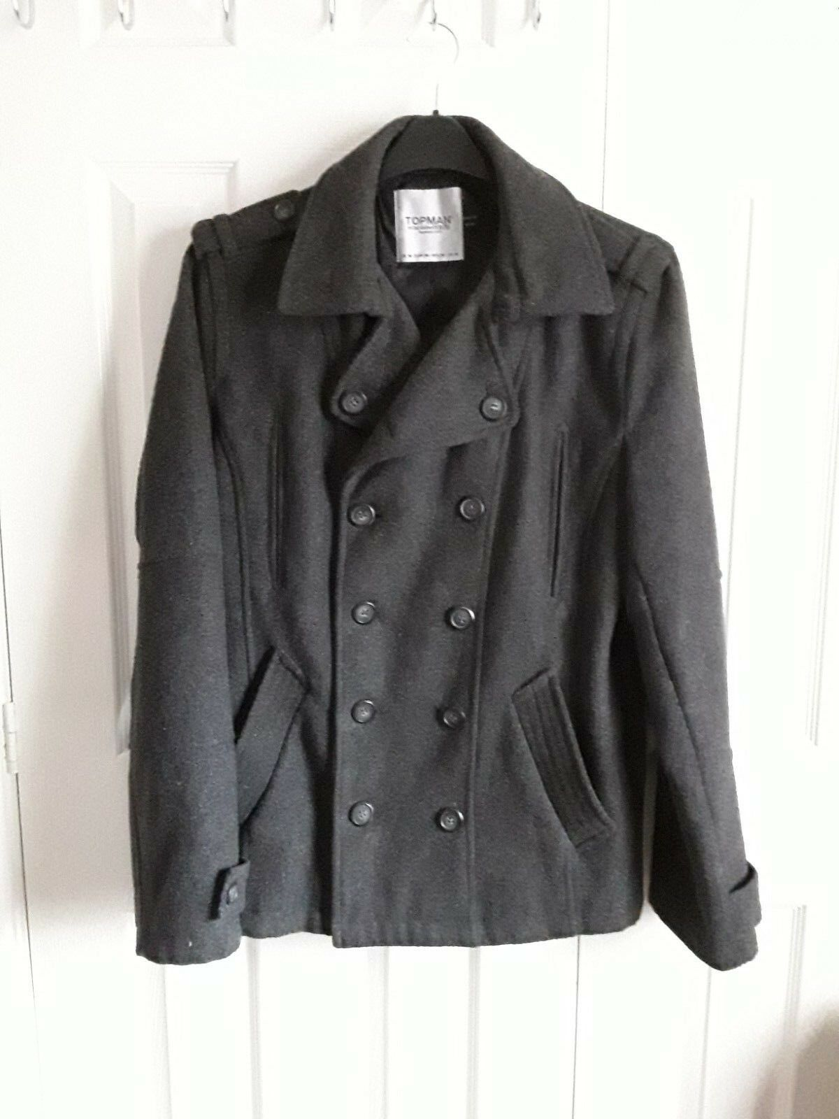 Topman double breasted coat size M