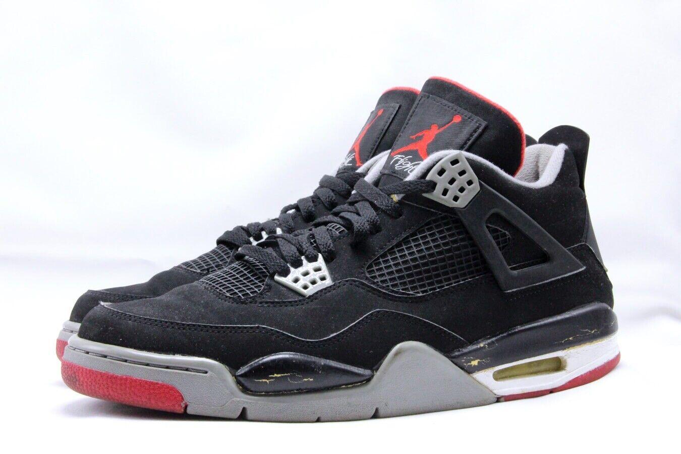 Air Jordan Retro 4 Collezione Brosso nero Cement grigio Varsity Varsity Varsity rosso 308497-003 20732a