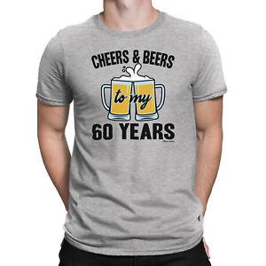 Hommes-60th-Anniversaire-T-shirt-acclamations-et-bieres-a-60-ans-Drole-Cadeau