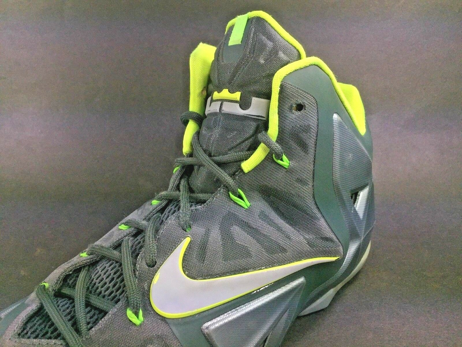 Nike? ~ LeBron XI DUNKMAN Basketball Shoes ~ ~ Green Volt ~ Shoes 616175-300 ~ Uomo Sz 14 5cc41a