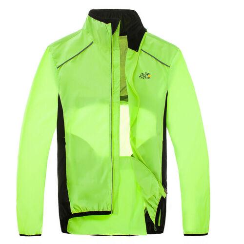 Men/'s Packable Cycling Jacket Hooded Running Coat Lightweight Biking Windbreaker