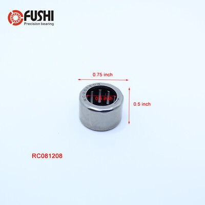 5 Pcs RC081208 Inch Size One Way Drawn Cup Needle Bearing 12.7*19.05*12.7 mm