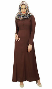 cce67d582f4 Bimba Women s Muslim Abaya Pleated Jilbab Islamic Long Dress With ...