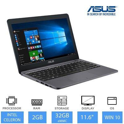 "ASUS VivoBook E203NA 11.6"" Cheap Laptop Intel Dual Core N3350, 2GB RAM, 32GB"