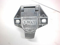 Truck End Plug 7 Way Pin Rv Connector Light Plug For Cord Wire Camper Semi