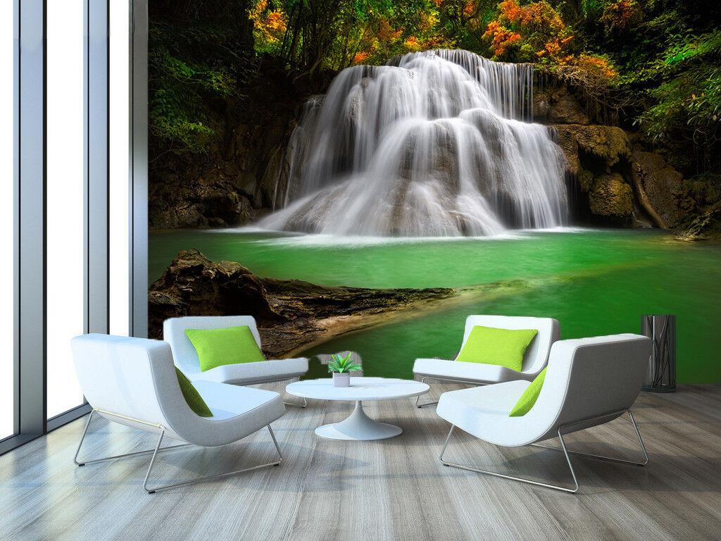 3D Wasserfall Berg Natürlich 88 Tapete Wandgemälde Tapeten Bild Familie DE Lemon | Trendy  | Zuverlässige Leistung  | Die Qualität Und Die Verbraucher Zunächst