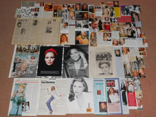 60+ FAYE DUNAWAY Magazine Clippings