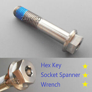 M12-x-1-75-x-55-Titanium-Ti-Screw-Bolt-Socket-Cap-Hexagon-Hex-Flange-Head-Blue