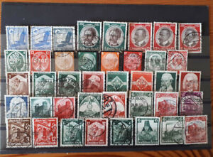 Deutsches Reich 1934 u. 1935. Lot von 40 gestempelten Briefmarken - Hamburg, Deutschland - Deutsches Reich 1934 u. 1935. Lot von 40 gestempelten Briefmarken - Hamburg, Deutschland