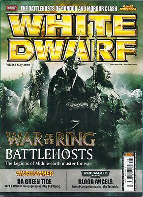 Cordiale White Dwarf 365 Maggio 2010 Games Workshop Warhammer Rivista Wd365 Guerra Dell'anello-