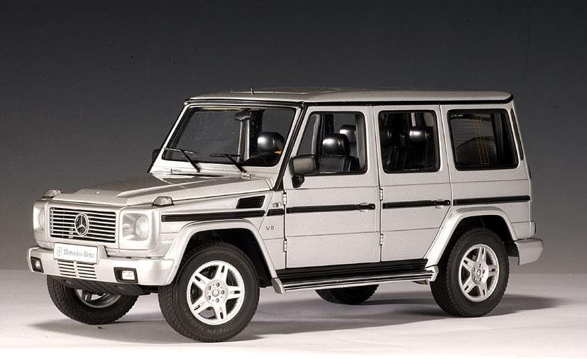 1 18 Autoart  76102 Mercedes-Benz G-Wagon Brillante Plata Metálico - Rareza§