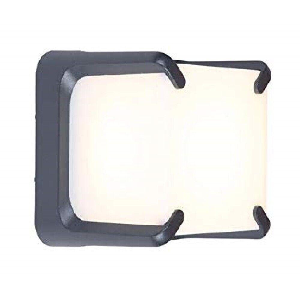 LED Alu muro exterior lámpara cupido, antracita, 15x15x12,5cm lutec 6166gr Eco-Light