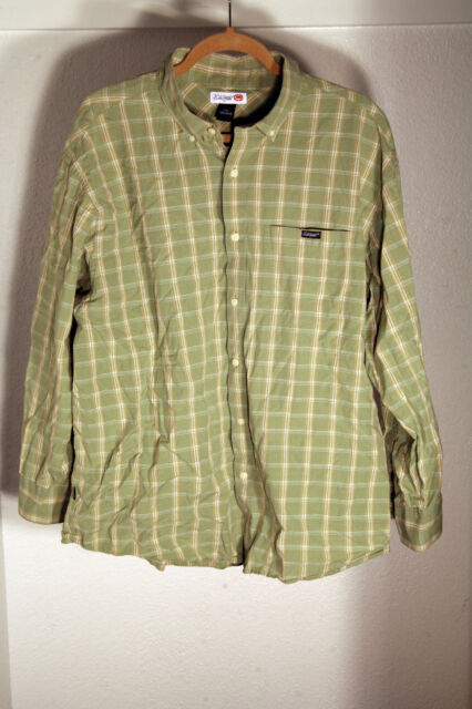 NICE ECKO LONG SLEEVE GREEN FLANNEL SHIRT MEN'S SIZE EXTRA EXTRA LARGE XXL