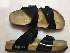 Birkenstock Papillio Black Patent Leather Sydney Sandals Size 37 L 6  240
