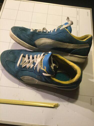 Vintage Blue Suede Uppers & White Soles PUMA LIGA