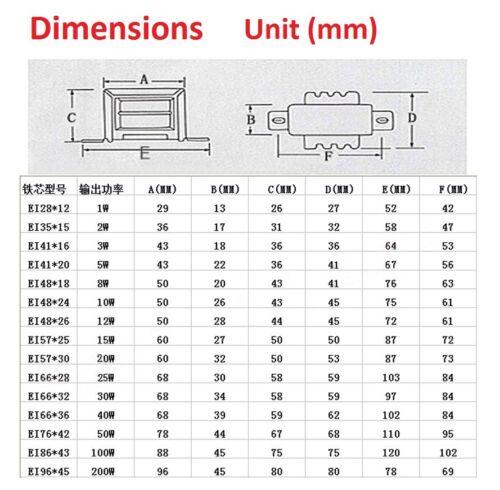 8W Input 220V 50Hz AC Power Transformer Single/&Dual Output 6V//9V//12V//15V//18V//24V
