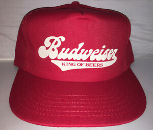 4e86757ad63 Vtg Budweiser Beer Snapback hat cap rare 80s MADE IN USA brew party ...